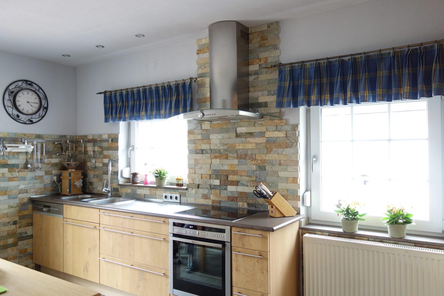 Küchenspiegel mit Rustikalem Stäbchen Mosaik